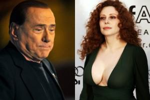 Francesca Dellera e Silvio Berlusconi