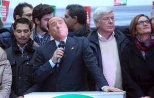 FI: Berlusconi arrivato a No Tax Day a Milano